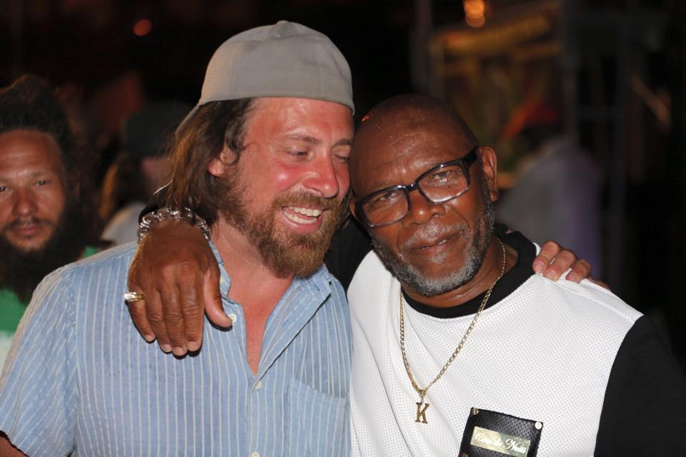 Festival promoter Kevin Purnell shares a laugh with Keith!